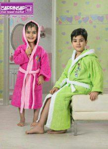 سایزبندی حوله های لباسی کودک